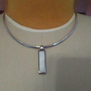 Lia Sophia Reversible Necklace Cabachon